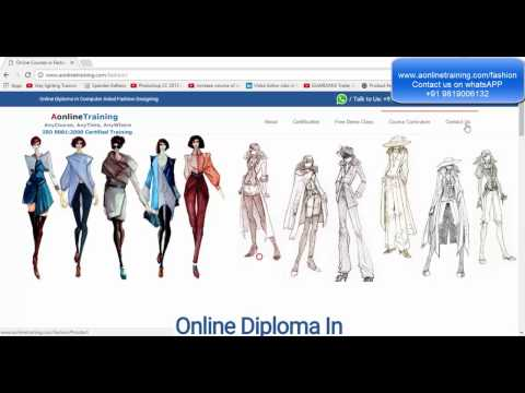 Online Fashion Designing Courses (CAD) - Free Demo Class - Hindi