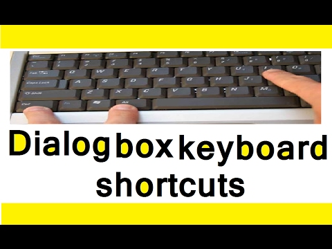 Dialog box keyboard shortcut | Shortcut keys of computer (in hindi)