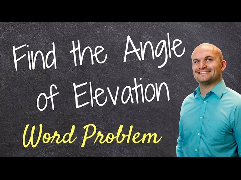 Find the angle of elevation when given the length of a shadow