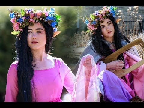 HOW TO LOOK LIKE A FANTASY CHARACTER   Includes flower crown and cloak tutorial