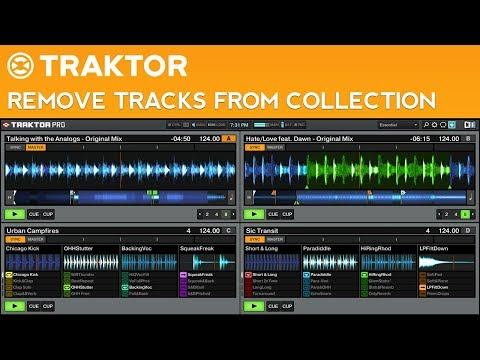 Traktor Pro 2 Tutorial: Remove Tracks from Your Collection