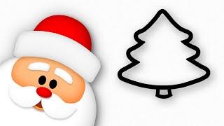 Christmas Tree & Santa Claus drawing | Happy New Year kids!