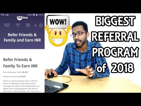 You Get 100 Your Friend Gets 100🤑 Bitbns Referral Program-Best CryptoCurrency Exchange India 2018