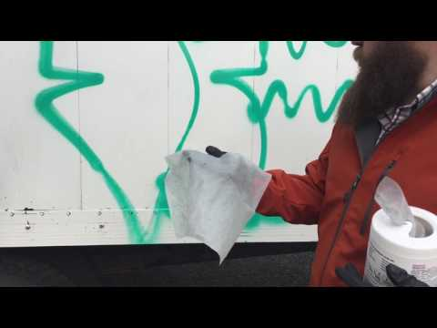 How to remove graffiti from a painted surface