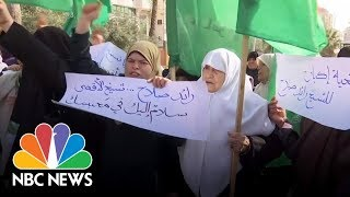 Female Hamas Supporters Protest Vice President Mike Pence In Israel | NBC News