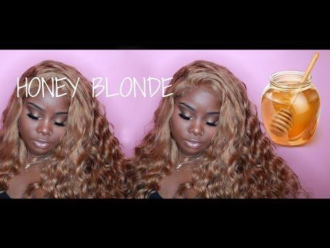 MSBUY 250% Density Honey Blonde Lace wig