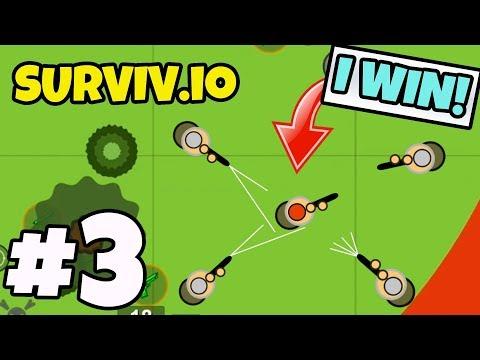 SOLO vs SQUADS - Surviv.io #3 (PUBG.io / FORTNITE.io)