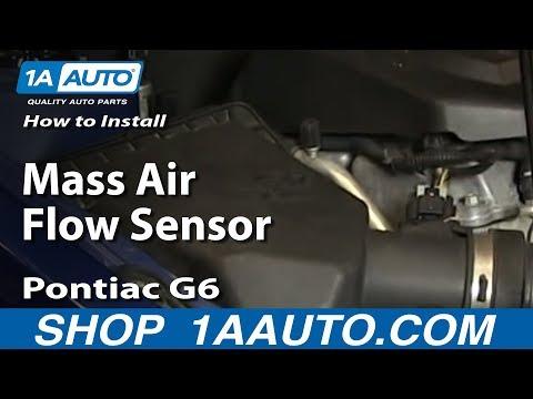 How To Install Replace Mass Air Flow Sensor 2005-2010 Pontiac G6 2.4L 4 Cyl