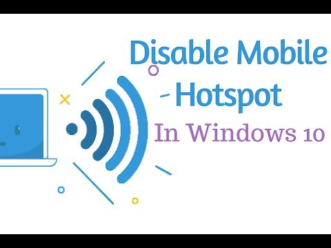 How to disable Mobile hotspot feature in Windows 10
