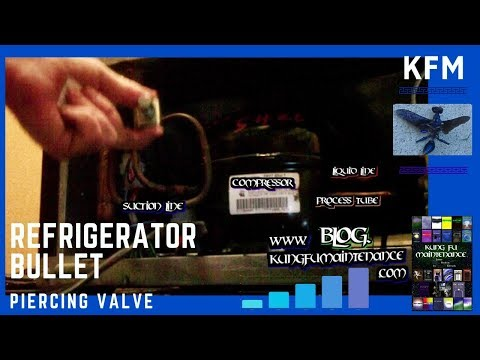 How To Install Bullet Piercing Valves To Charge Refrigerators Or Air Conditioners Low On Freon