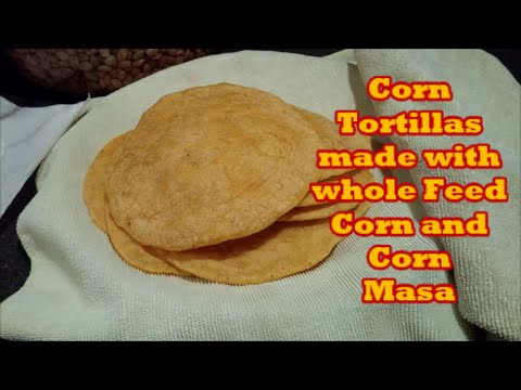 Corn Tortillas made with whole corn and corn Masa flour.