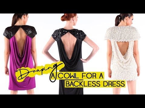 Draping a Cowl for a Backless Dress