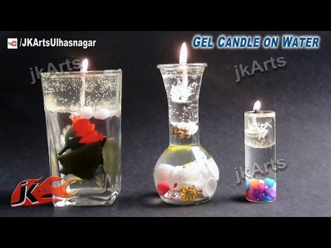 DIY Gel Candle on water| How To make | JK Arts 522