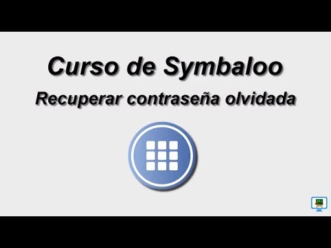 CURSO DE SYMBALOO (2017)   1.3a  Recuperar contraseña olvidada (HD)