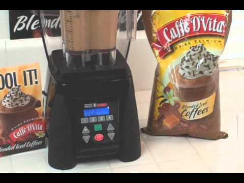 Caffe D'Vita Mocha Latte Blended Iced Coffee Drink