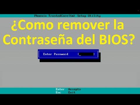 Como quitar o remover la Contraseña ó Password del BIOS en Laptops y Netbooks