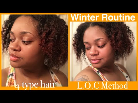 Winter Routine | L.O.C method for Natural 4 type hair
