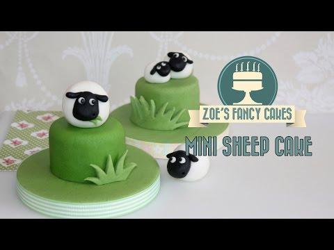 How to make a sheep cake topper fondant animals cute mini marzipan cake tutorial
