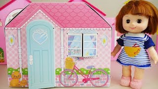 Baby doll and toys house and camping car toy play