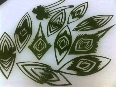 Bamboo leaf decorative cutting for garnishing.....