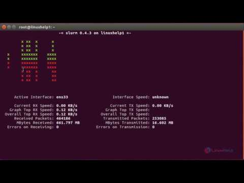 How To Monitor Network Load using slurm Tool