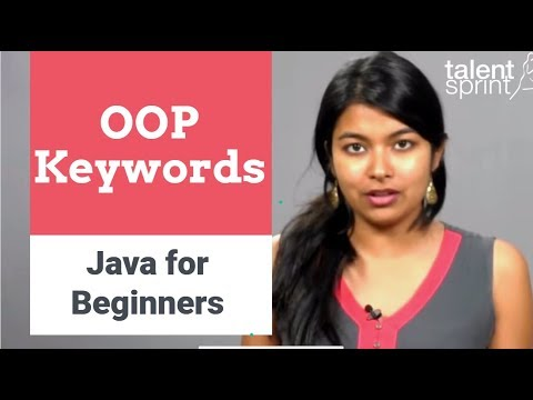 OOP Keywords | Java for Beginners | TalentSprint