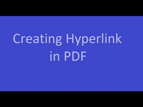 Creating hyperlinks and click executable in pdf