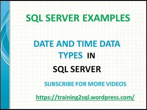 SQL Server Date and Time Data Types