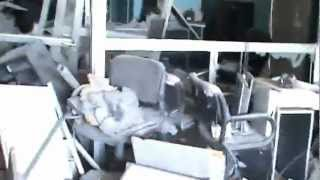 #x202b;حمص القصور اثار الدمار في شركة نقليات القدموس 20_6_2012#x202c;lrm;