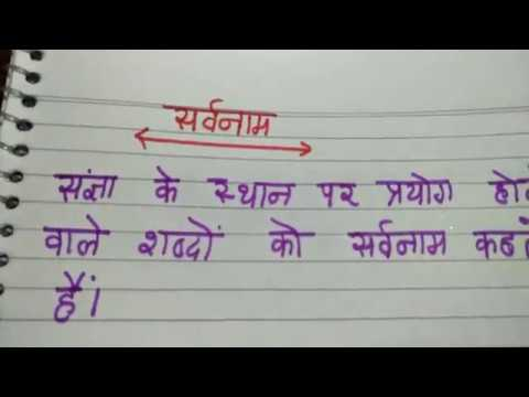 Sarvanam aur uske Bhed explained in Hindi be free Hindi vyakaran in excellent channel by ritashu