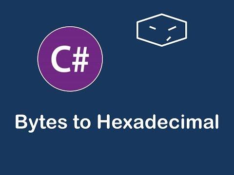 bytes to hexadecimal string in c#