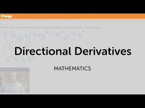 Directional Derivatives | Math | Chegg Tutors