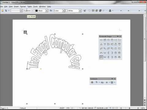 LibreOffice-Writer (81) Fontwork-Part 2