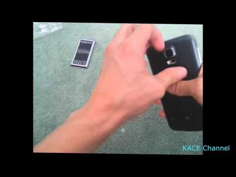How to remove back cover of Samsung smart phone Galaxy S5