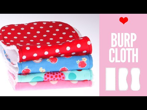 Burp Cloth Pattern - DIY Burp Cloth Pattern in 3 Shapes