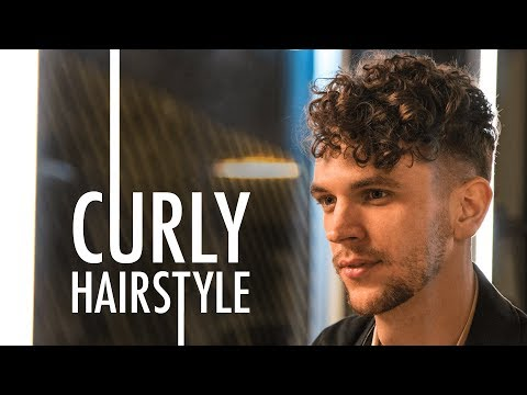 Men's Short Curly Hairstyle for Summer 2018