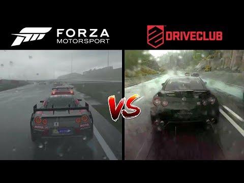 Forza 7 vs Driveclub PS4 Graphics Comparison l Rain