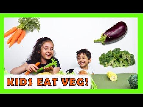 KIDS EAT VEGETABLES ! | messy cutie | Fatema's Art Show