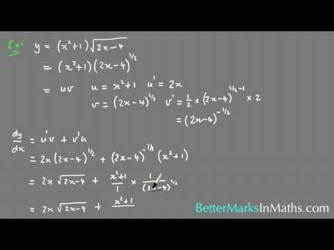 How To Use The Product Rule - VCE Maths Methods