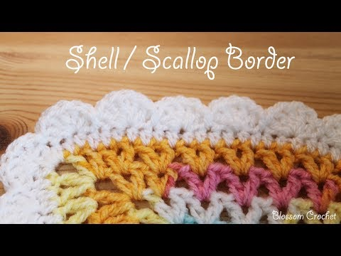 Easy crochet: Shell / Scallop Border