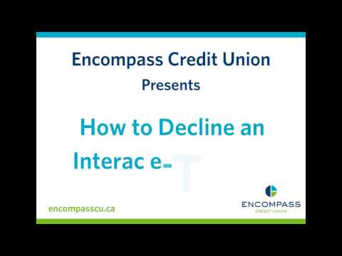 How to Decline an Interac e-Transfer®