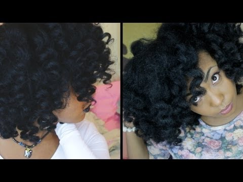 Soft Curls & Fluffy Waves Curling Wand Tutorial on Natural Hair