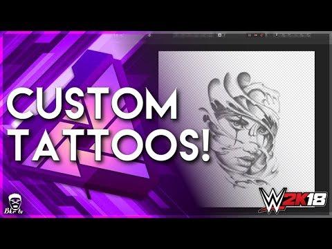 WWE2K18 | How to create custom tattoos | Affinity Photo tutorial