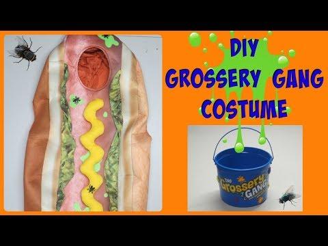 DIY Grossery Gang Halloween Costume & Candy Bucket!