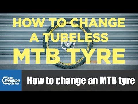 How to change a mountain bike tyre (tubeless)