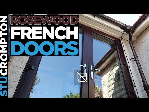 Fitting UPVC Rosewood French Doors