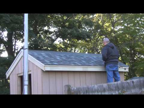 Shingling the Shed Roof