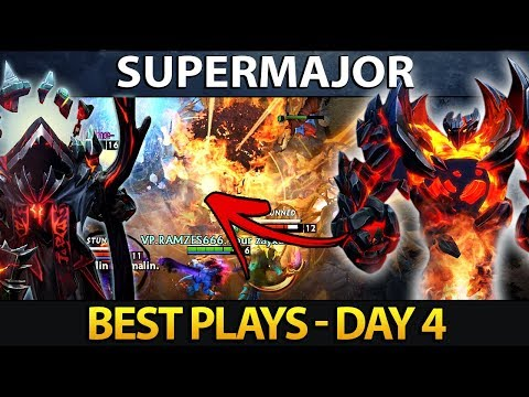 CHINA SUPERMAJOR Dota 2 Best Plays - Day 4