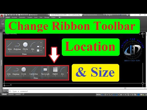 How to change ribbon toolbar size and location