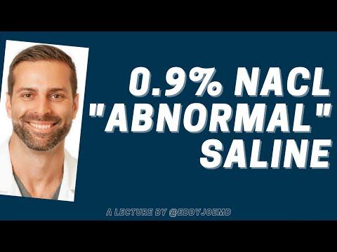 A Quick Talk on 0.9% NaCl, aka